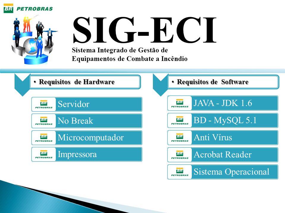 SIG-ECI Servidor JAVA - JDK 1.6 No Break BD - MySQL 5.1