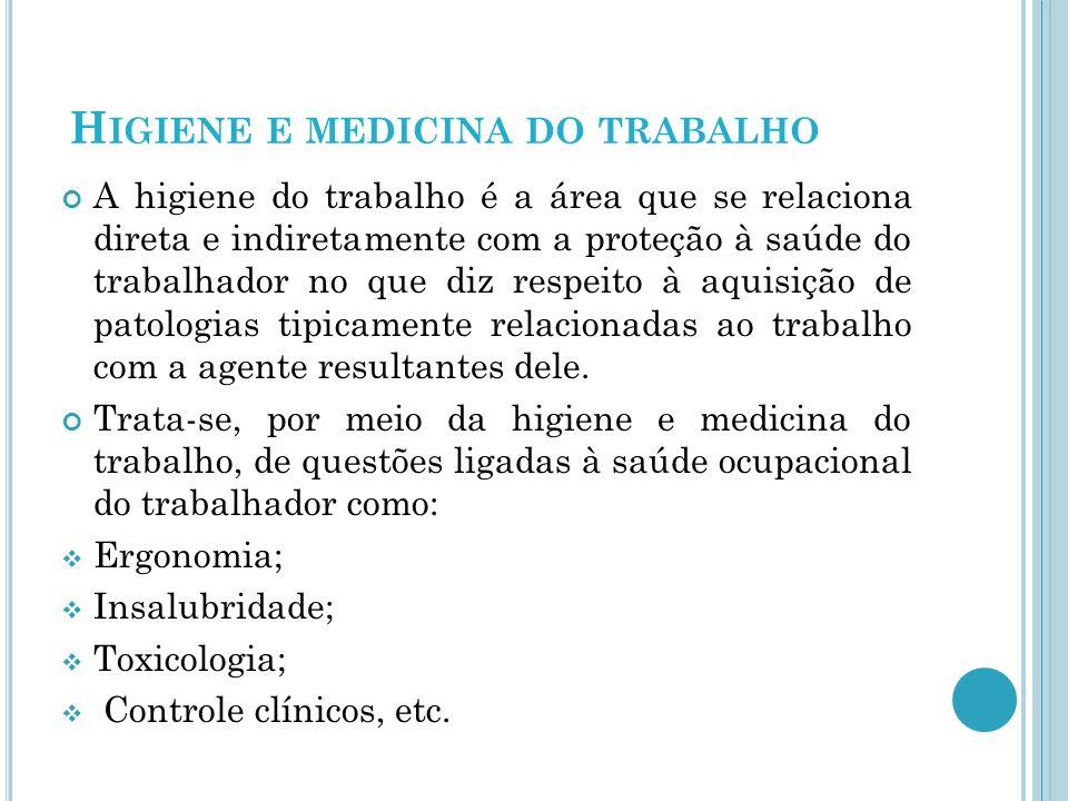 Higiene e medicina do trabalho