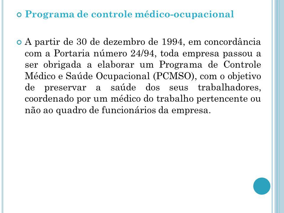 Programa de controle médico-ocupacional