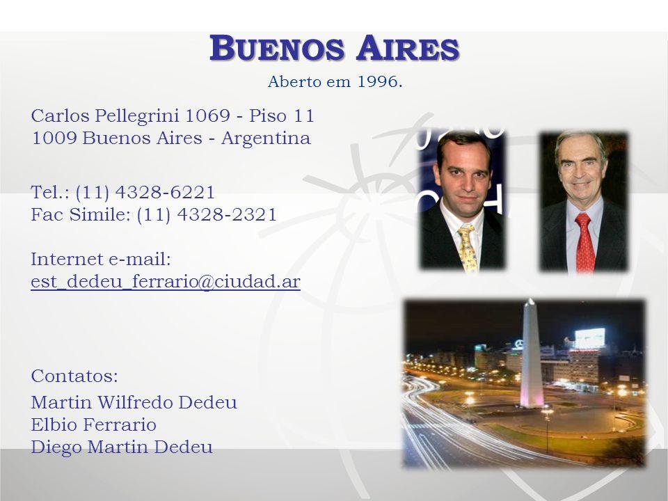 Buenos Aires Aberto em 1996. Carlos Pellegrini 1069 - Piso 11 1009 Buenos Aires - Argentina.