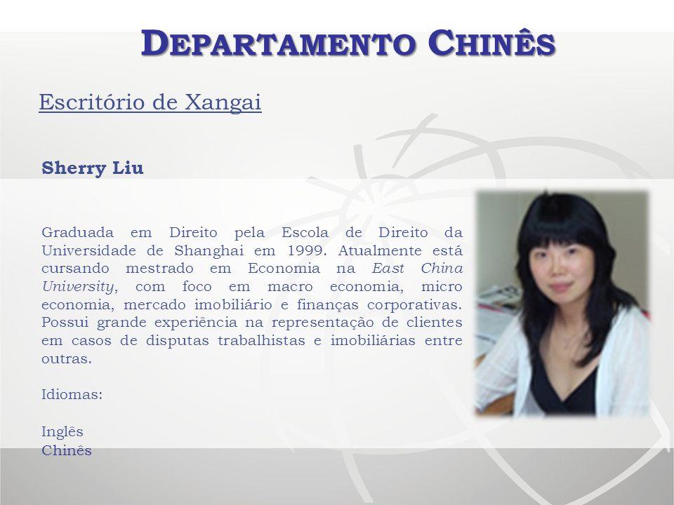 Departamento Chinês Escritório de Xangai Sherry Liu