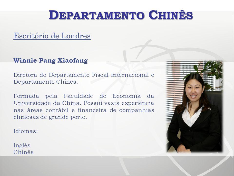 Departamento Chinês Escritório de Londres Winnie Pang Xiaofang