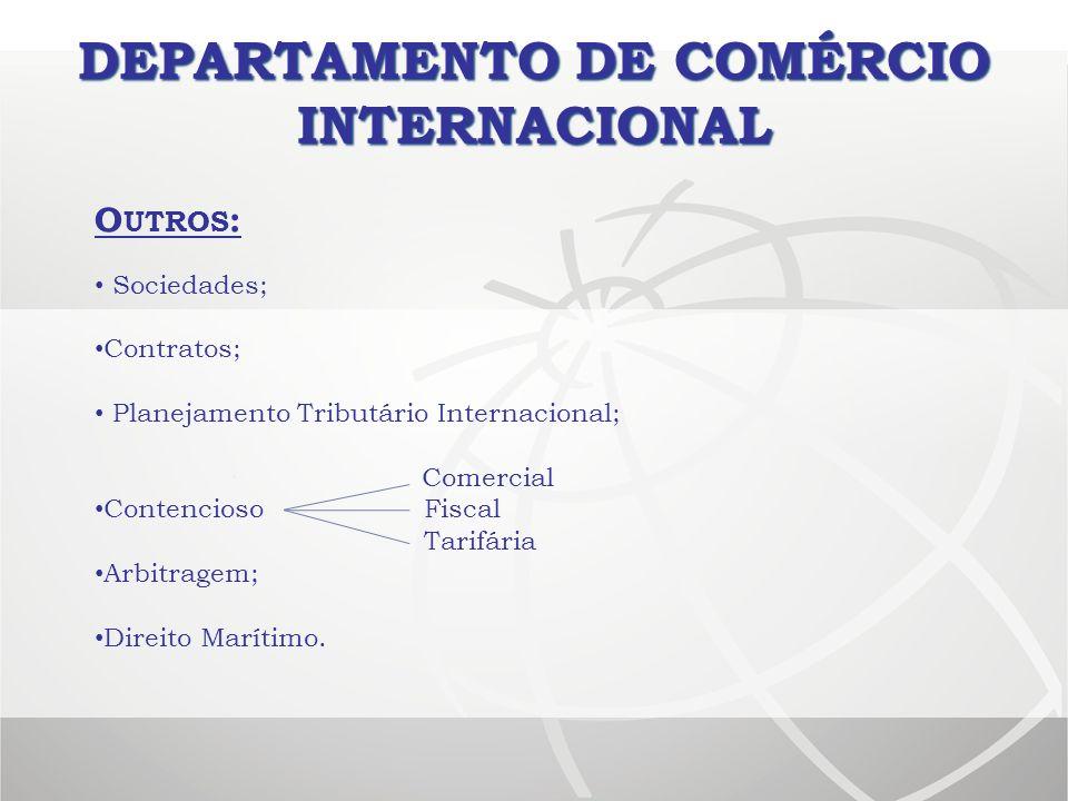 DEPARTAMENTO DE COMÉRCIO INTERNACIONAL