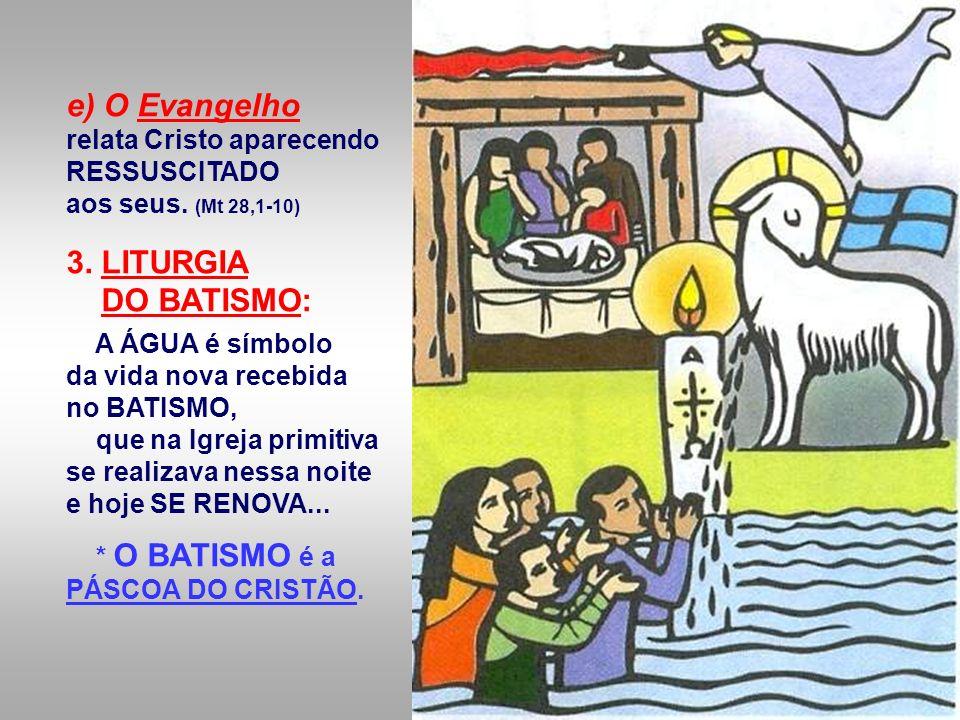e) O Evangelho relata Cristo aparecendo RESSUSCITADO aos seus