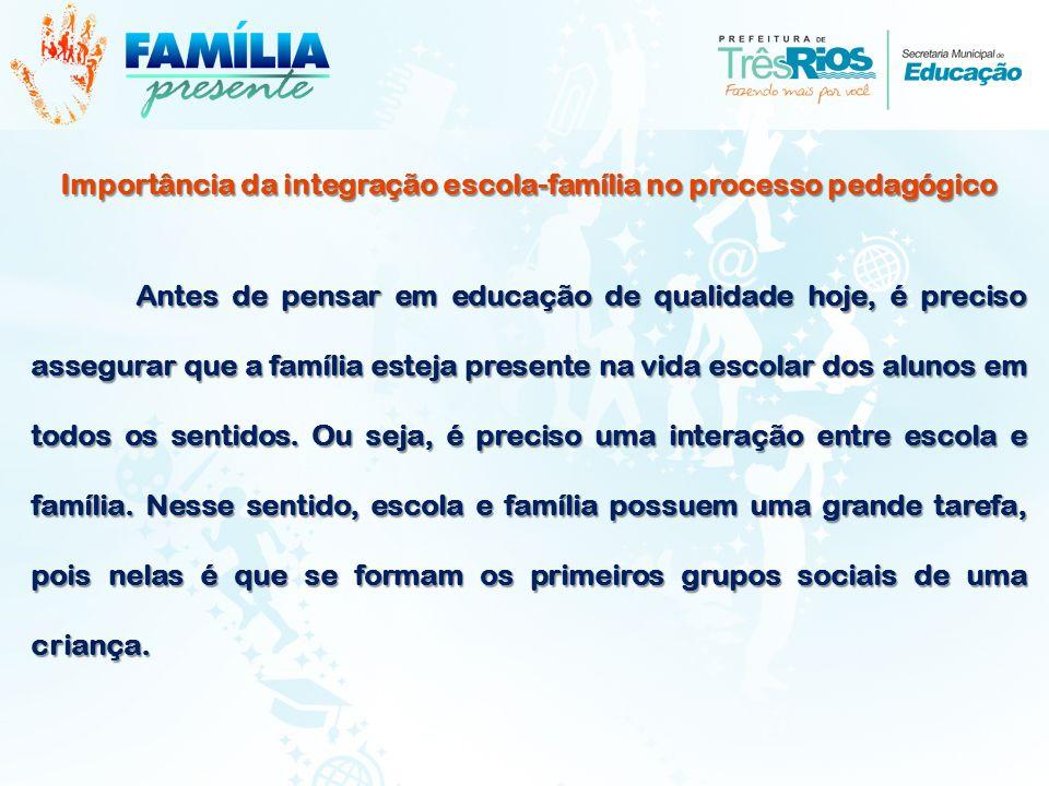 Importância da integração escola-família no processo pedagógico