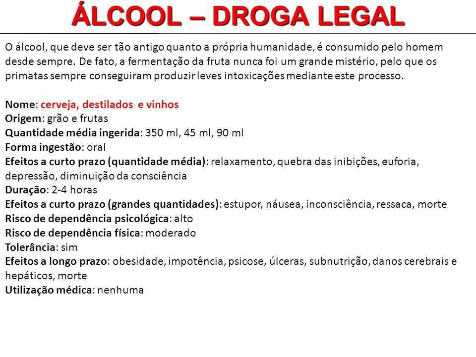 ÁLCOOL – DROGA LEGAL