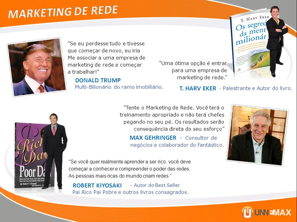 MARKETING DE REDE DONALD TRUMP T. HARV EKER MAX GEHRINGER