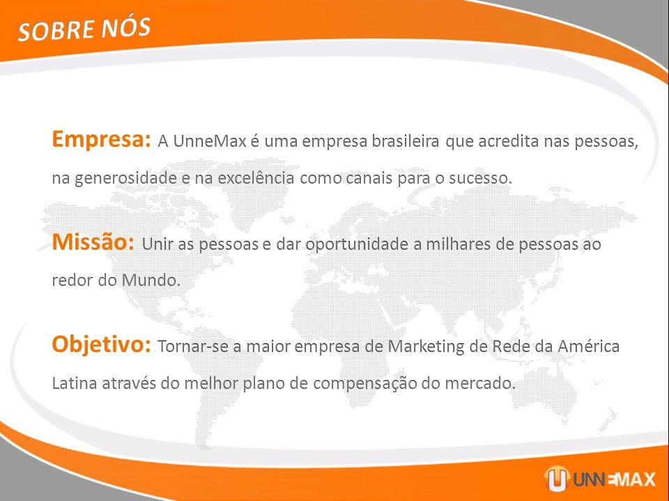 SOBRE NÓS Empresa: A UnneMax é uma empresa brasileira que acredita nas pessoas, na generosidade e na excelência como canais para o sucesso.