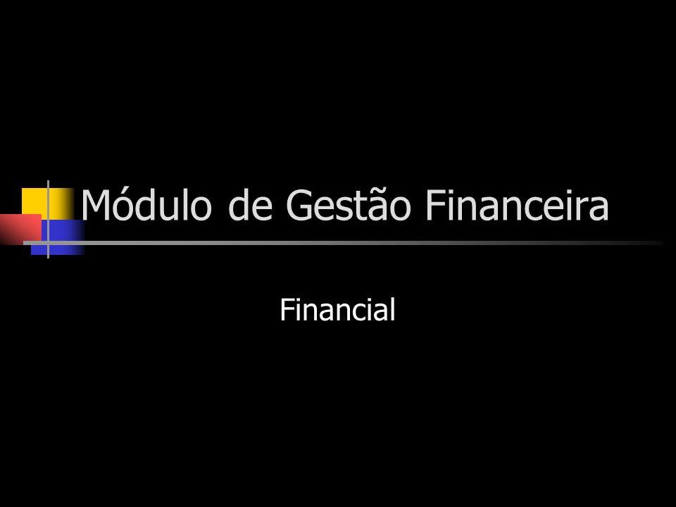 Módulo de Gestão Financeira