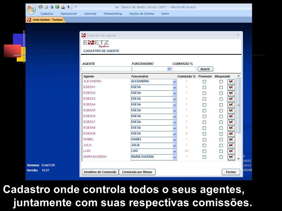 Cadastro de Agentes Clique para adicionar texto.