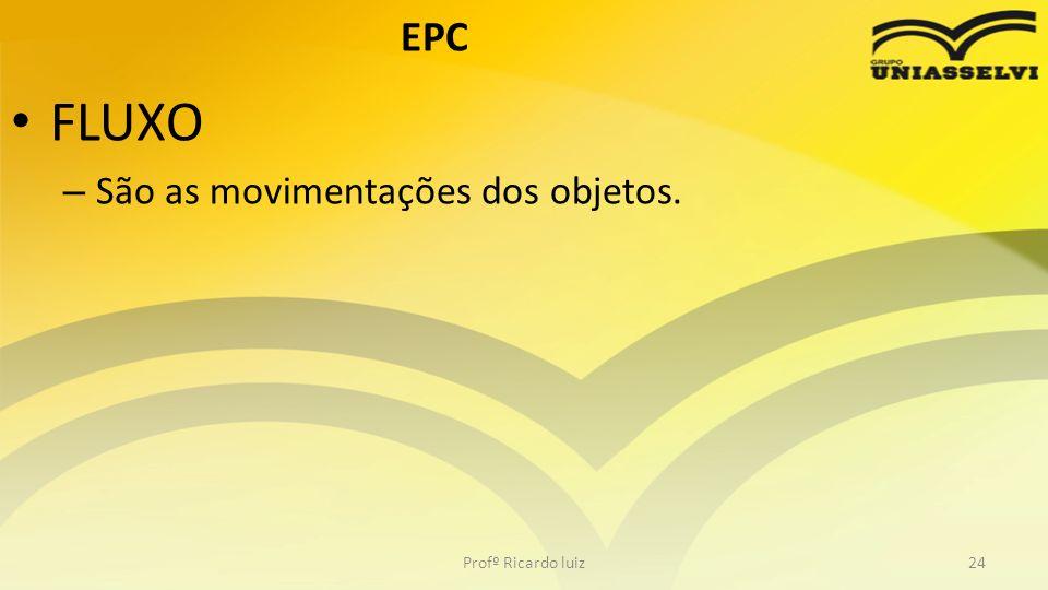 EPC FLUXO São as movimentações dos objetos. Profº Ricardo luiz