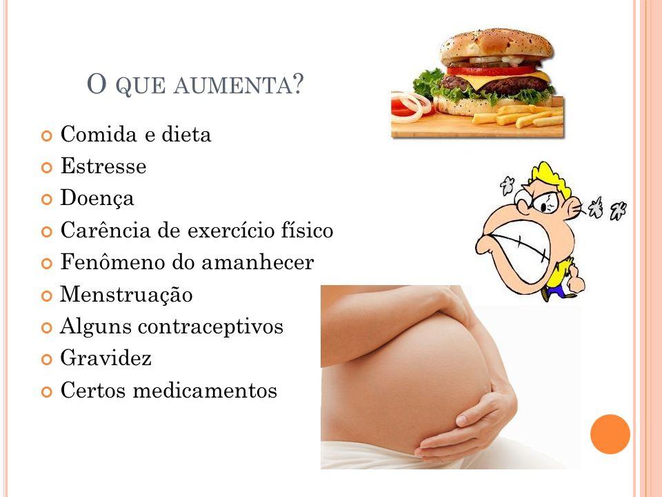 O que aumenta Comida e dieta Estresse Doença