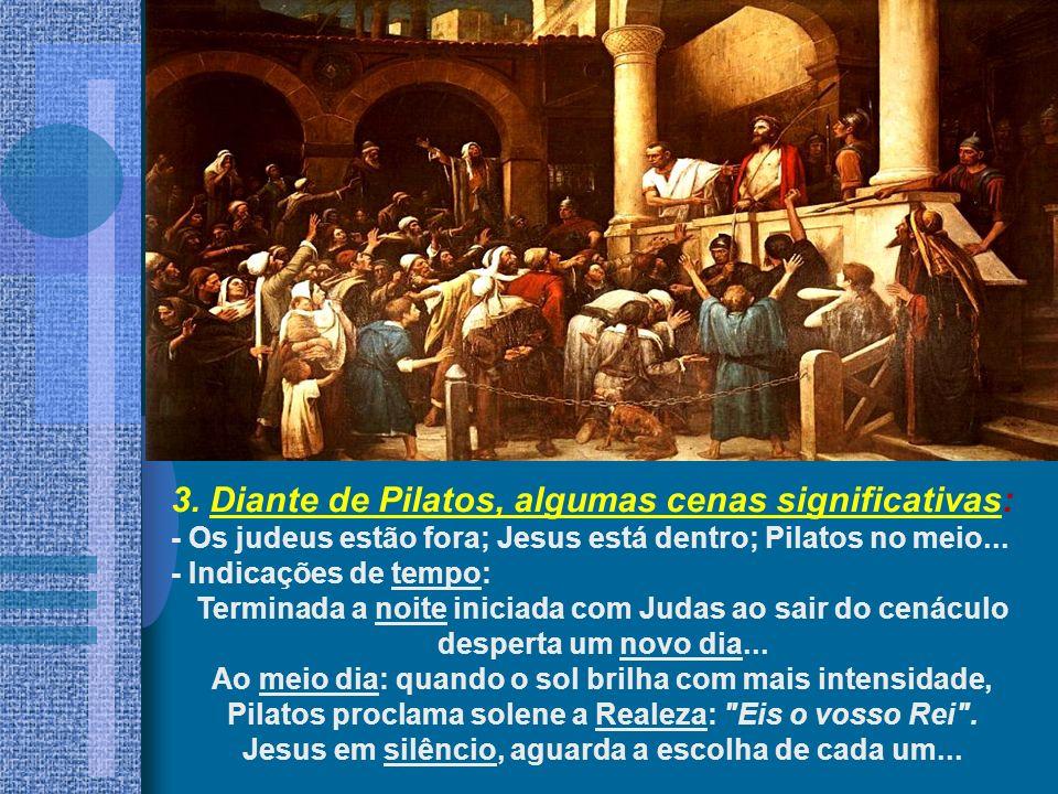 3. Diante de Pilatos, algumas cenas significativas: