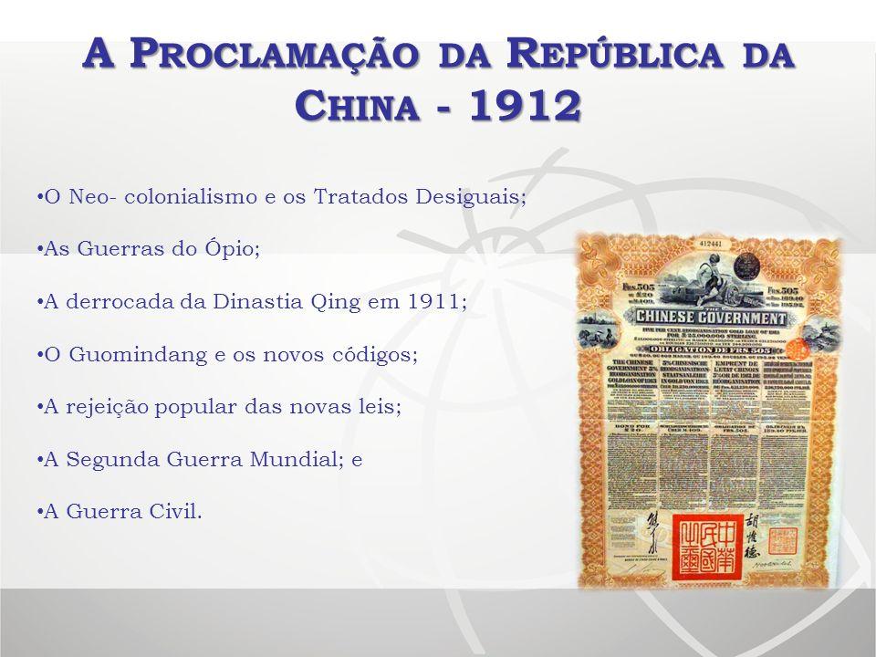 A Proclamação da República da China - 1912