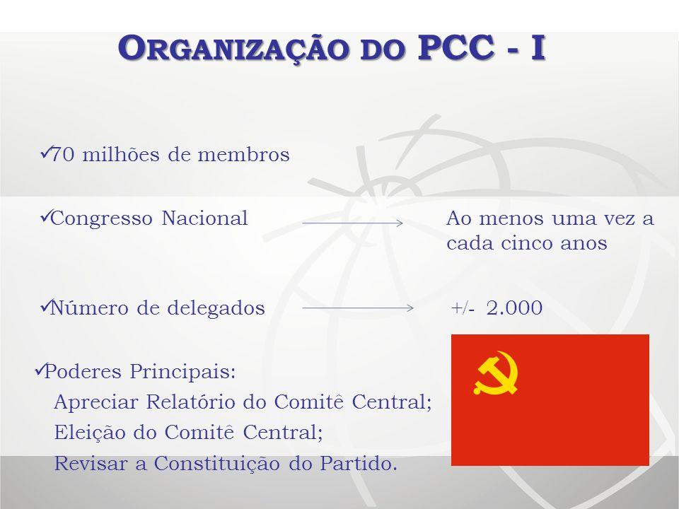 Organização do PCC - I 70 milhões de membros