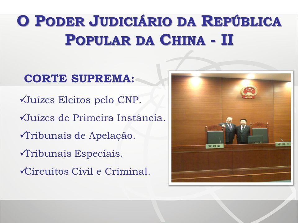 O Poder Judiciário da República Popular da China - II