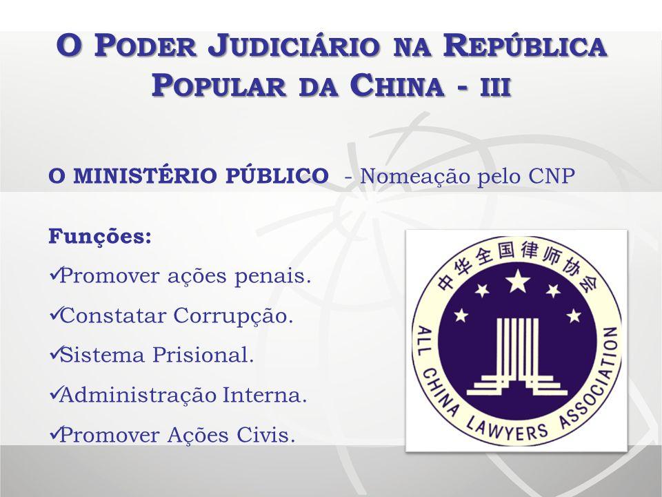 O Poder Judiciário na República Popular da China - iii