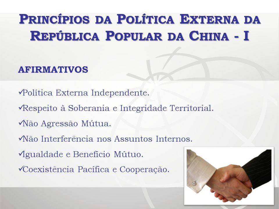 Princípios da Política Externa da República Popular da China - I