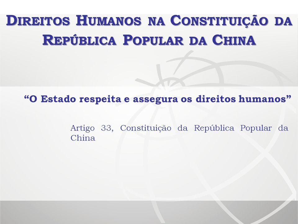 Direitos Humanos na Constituição da República Popular da China