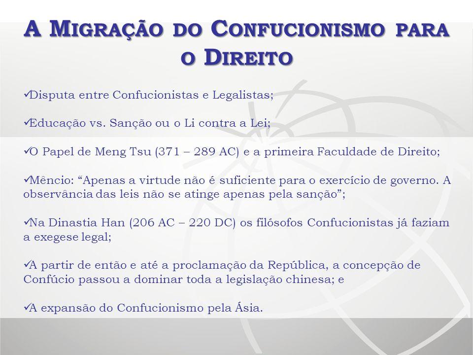 A Migração do Confucionismo para o Direito