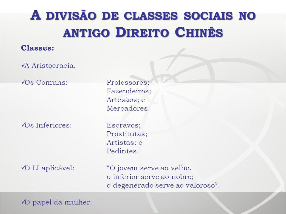 A divisão de classes sociais no antigo Direito Chinês