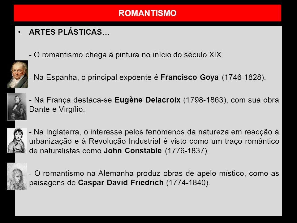 ROMANTISMO ARTES PLÁSTICAS…
