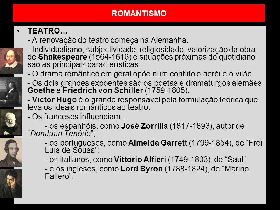 ROMANTISMO TEATRO… - A renovação do teatro começa na Alemanha.
