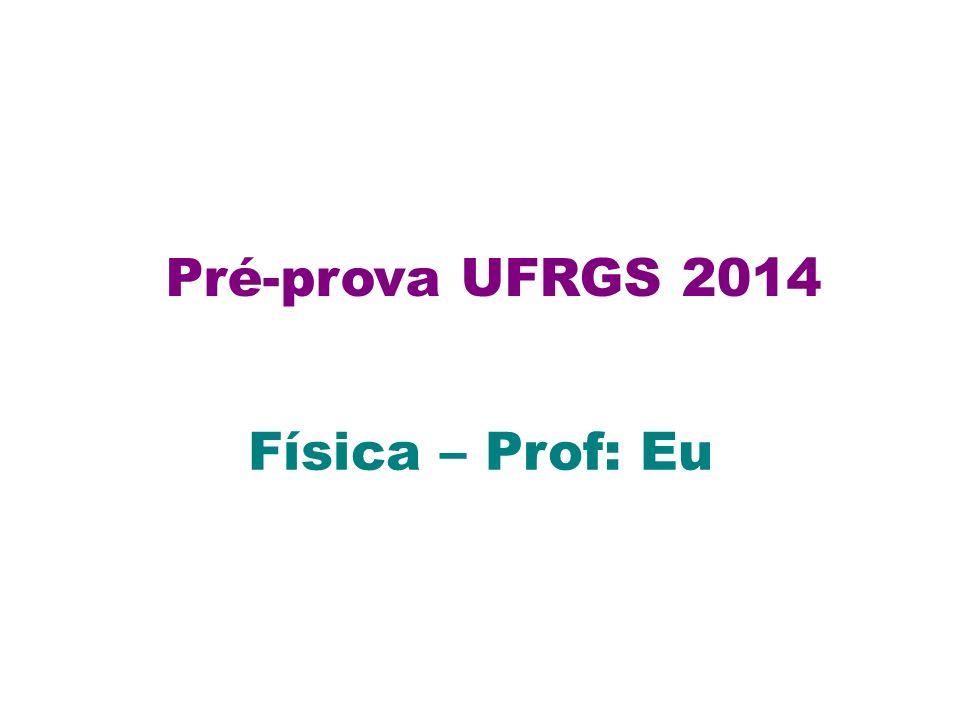 Pré-prova UFRGS 2014 Física – Prof: Eu