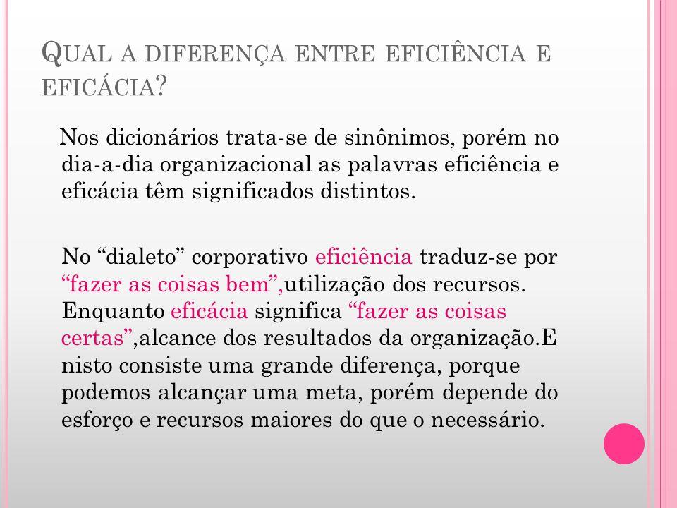 Qual a diferença entre eficiência e eficácia