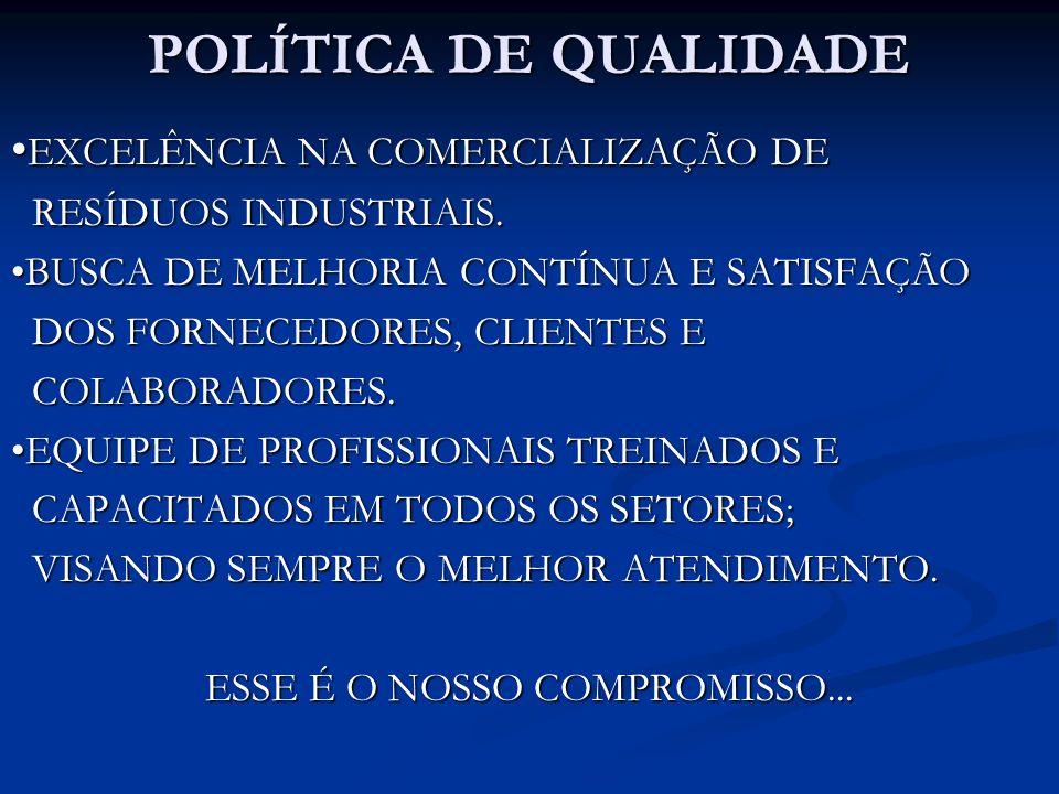 ESSE É O NOSSO COMPROMISSO...