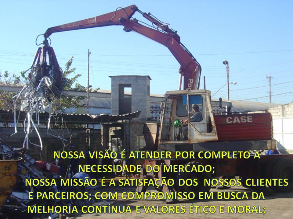 NOSSA VISÃO É ATENDER POR COMPLETO A NECESSIDADE DO MERCADO;
