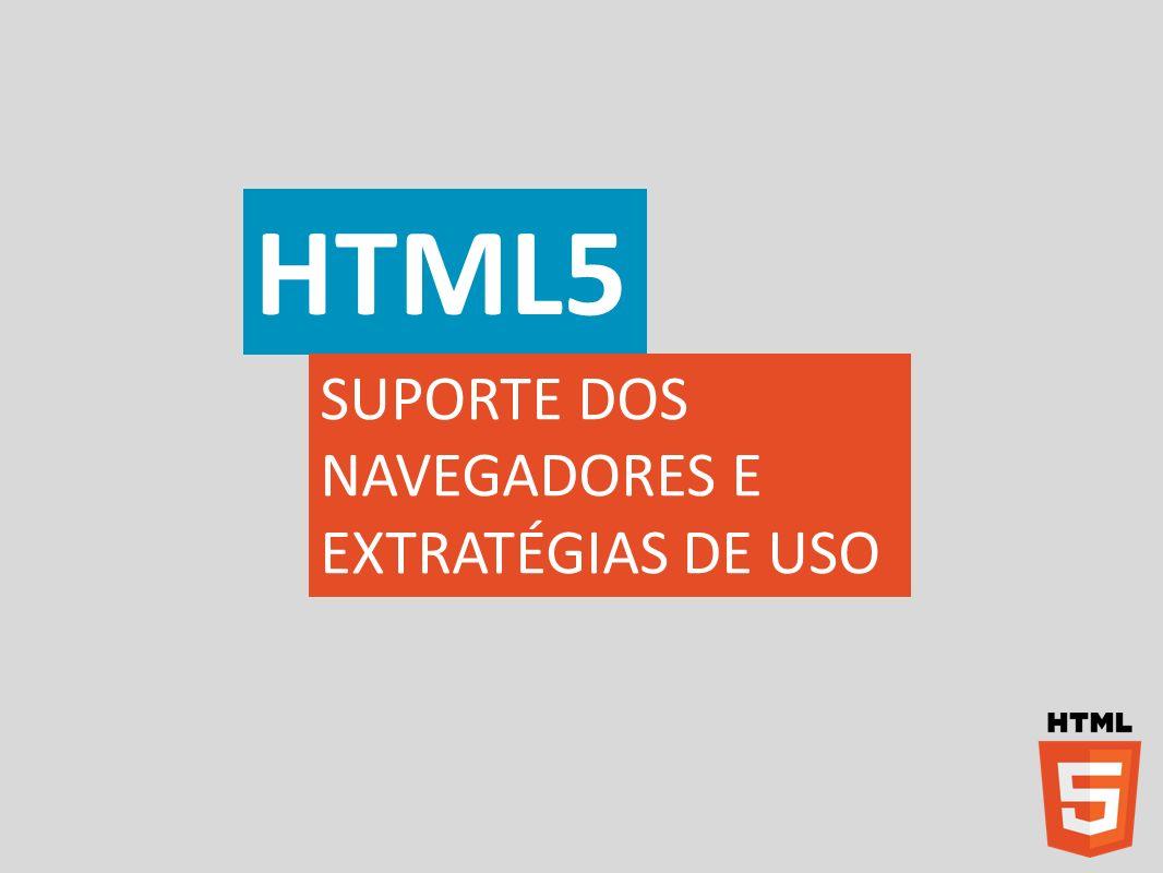 HTML5 SUPORTE DOS NAVEGADORES E EXTRATÉGIAS DE USO