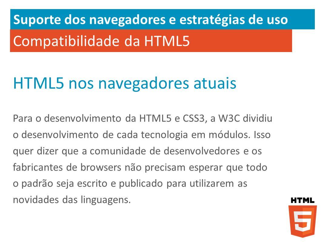 HTML5 nos navegadores atuais