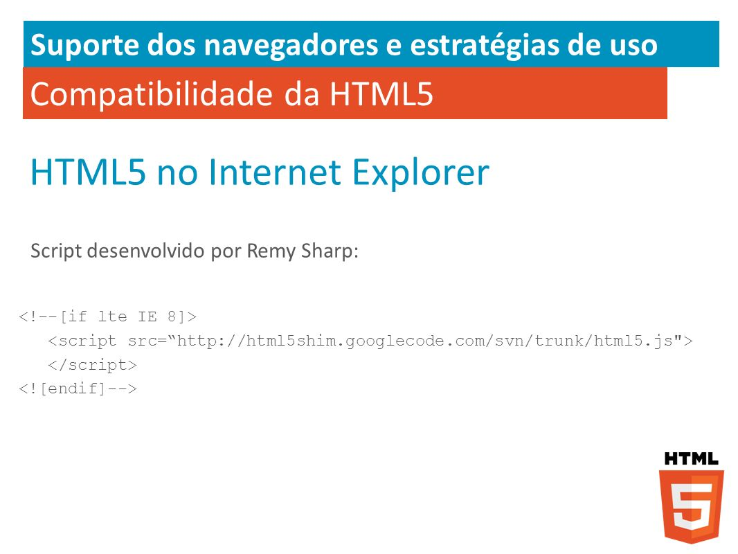 HTML5 no Internet Explorer