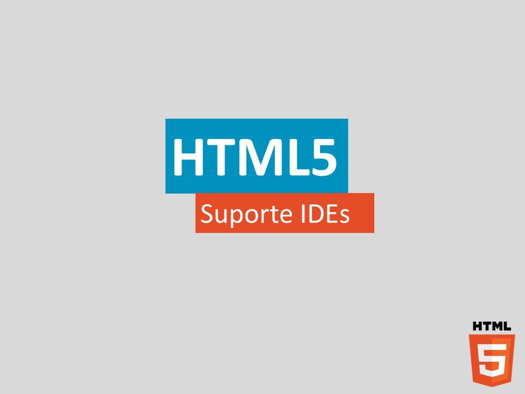 HTML5 Suporte IDEs