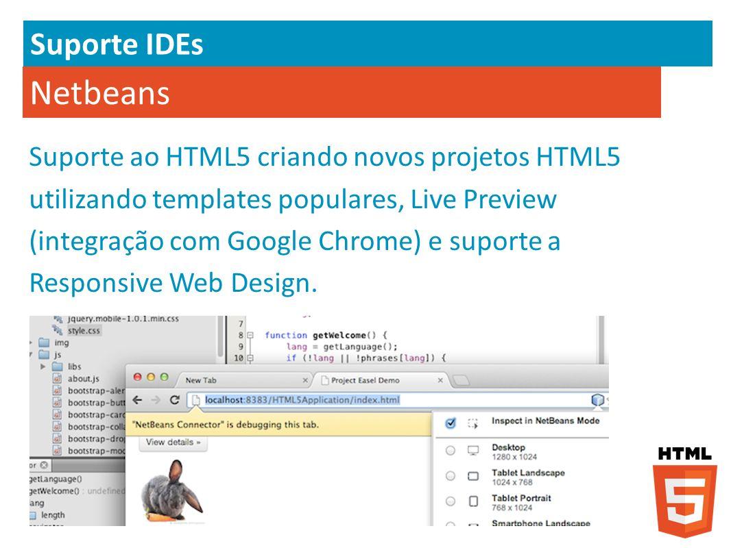 Suporte IDEs Netbeans.