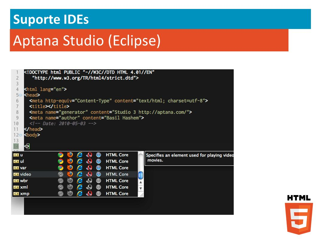 Aptana Studio (Eclipse)