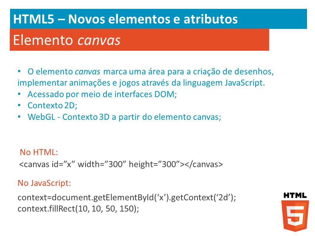 Elemento canvas HTML5 – Novos elementos e atributos