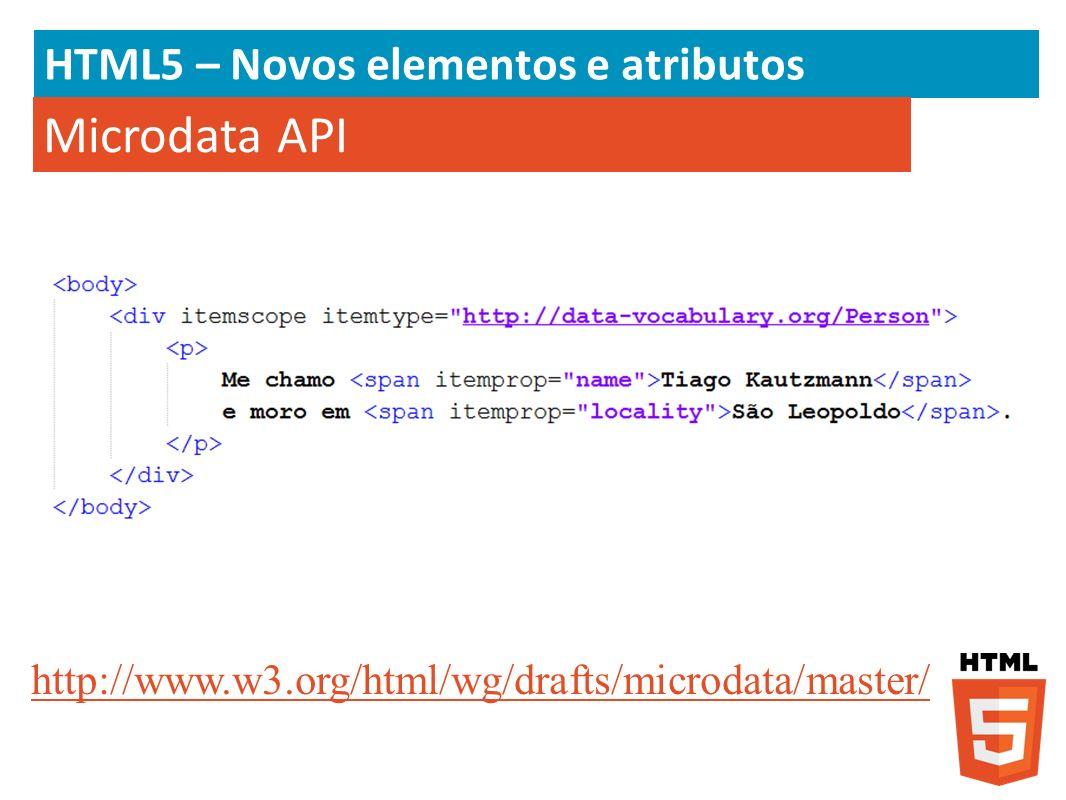 Microdata API HTML5 – Novos elementos e atributos