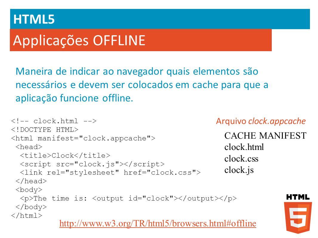 Applicações OFFLINE HTML5