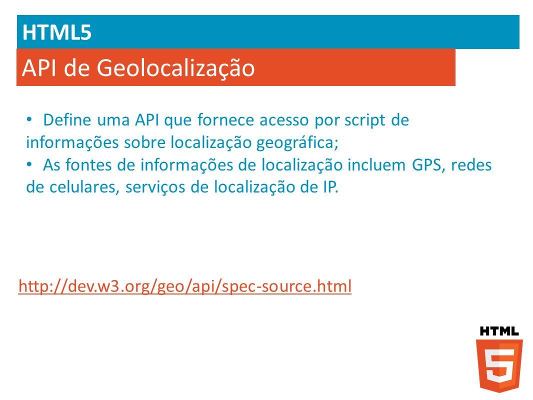 API de Geolocalização HTML5