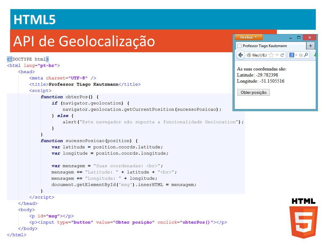 HTML5 API de Geolocalização