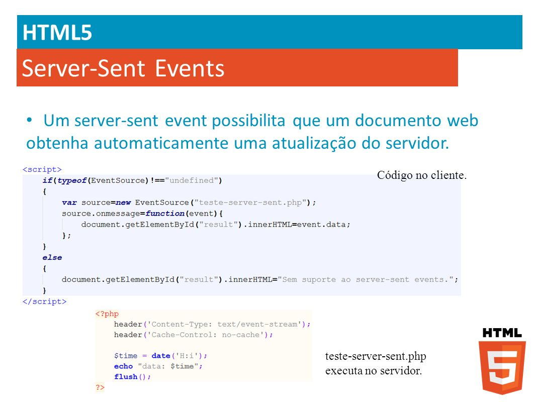 Server-Sent Events HTML5