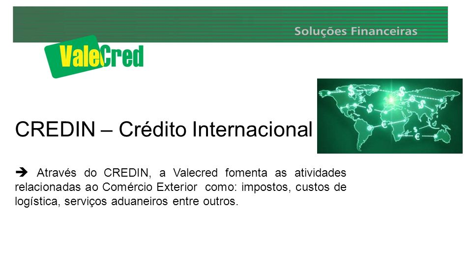 CREDIN – Crédito Internacional