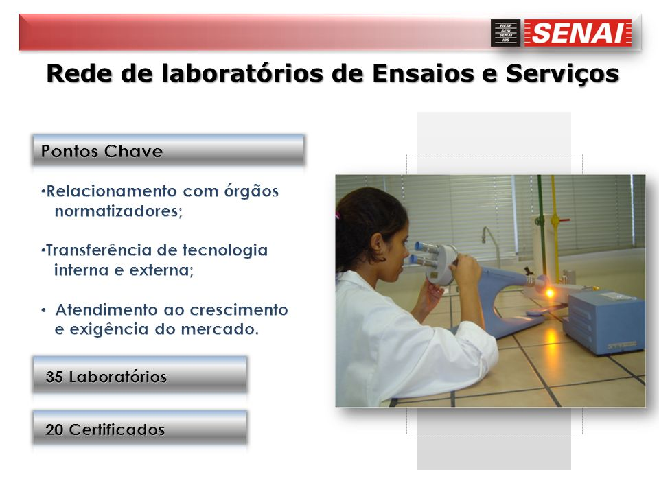 Rede de laboratórios de Ensaios e Serviços