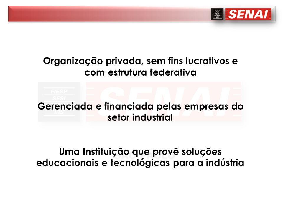 Organização privada, sem fins lucrativos e com estrutura federativa