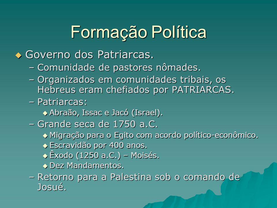 Formação Política Governo dos Patriarcas.