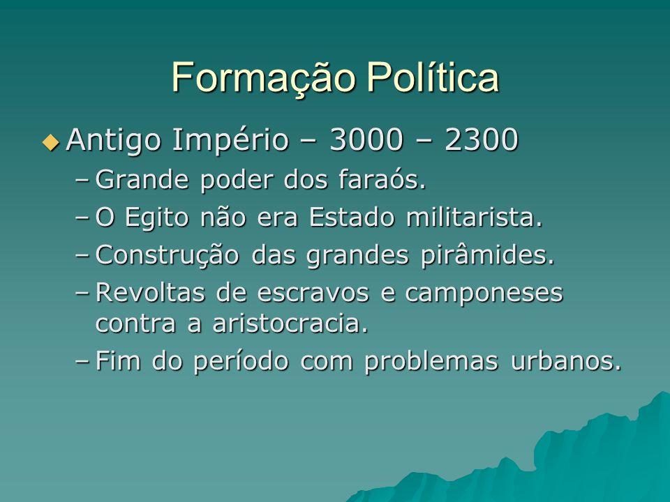 Formação Política Antigo Império – 3000 – 2300