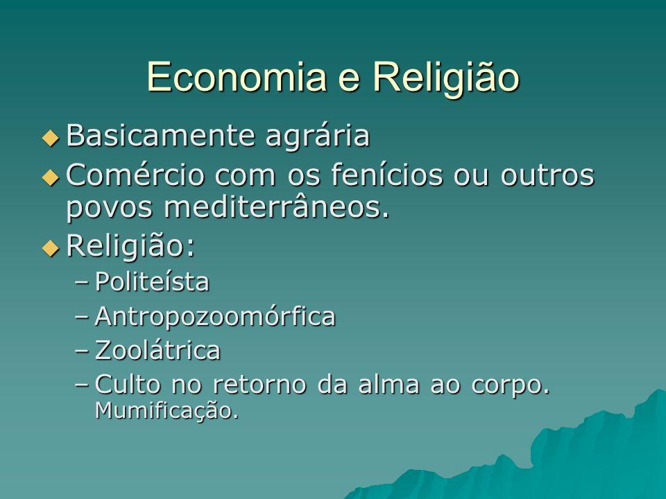 Economia e Religião Basicamente agrária