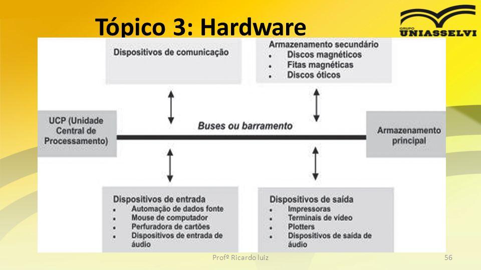 Tópico 3: Hardware Profº Ricardo luiz